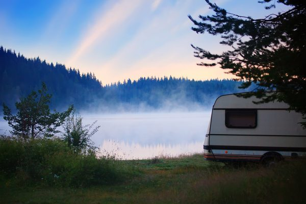 camper by the lake